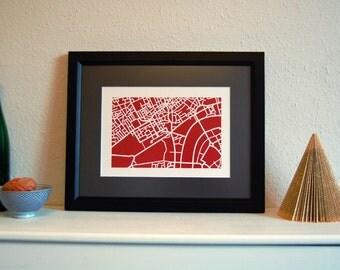 London map-cut