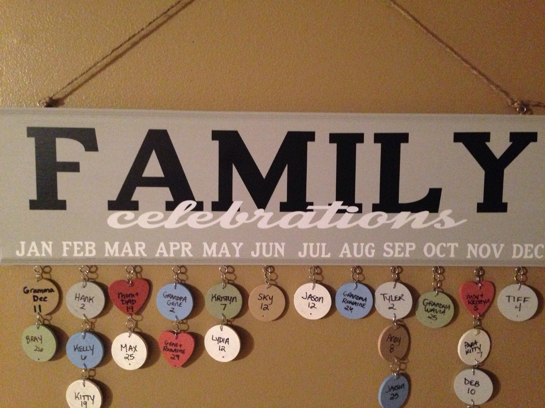 Family Celebrations Plaque Family Celebrations Birthday