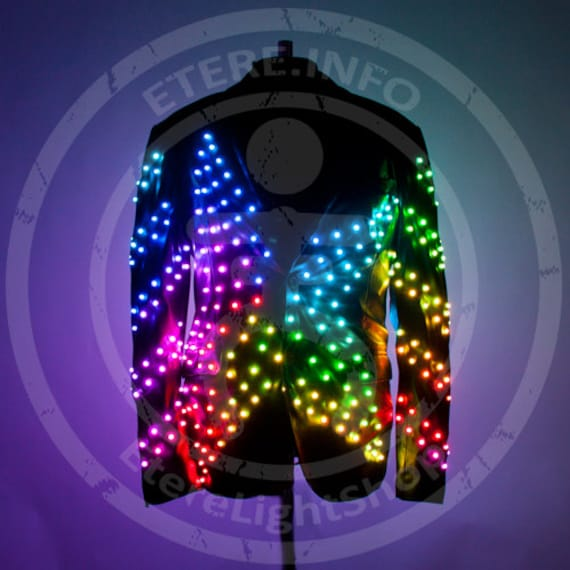 smart led light up video screen fashion disco jacket costume star