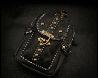 Leather Waist Pouch for Work or Travel, K06D03