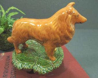 Collie dog figurine - Dog statue - Nowell's molds - Collectible dog figurine - Dog lover gift - dog collector gift