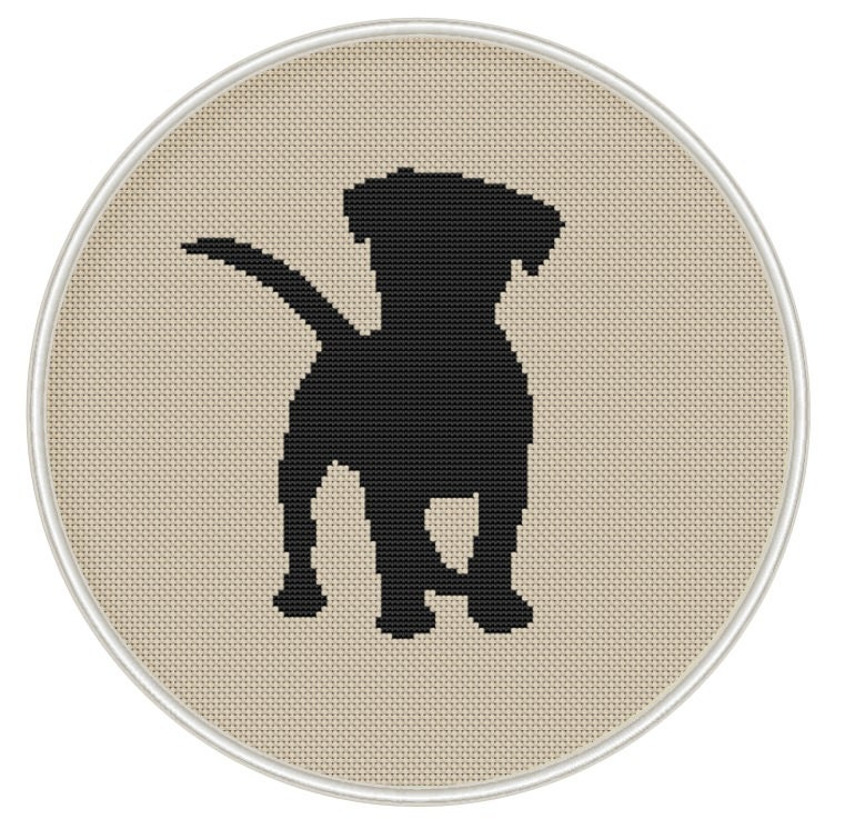Puppy cross stitch pattern Dog counted cross stitch Instant