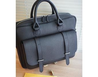 Handmade leather Tote bag /Togo leather VIP bag