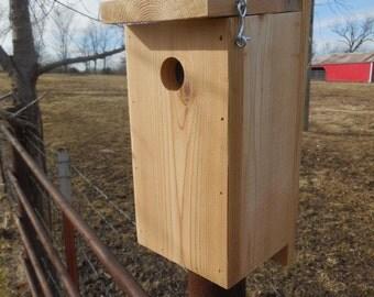 Chickadee and Nuthatch birdhouse