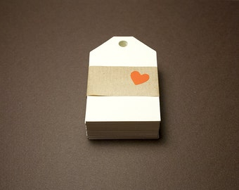 Tags for ivory gift box