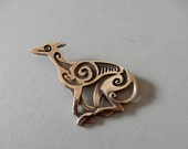 Large Greyhound Brooch or Pendant in Bronze