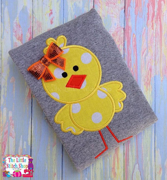 Easter - Chick Standing Applique Design