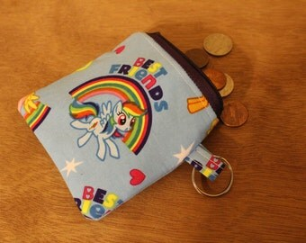 Blue My Little Pony change purse/coin pouch