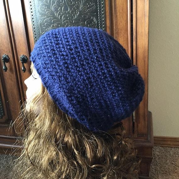Easy Slouchy Hat -- a loom knit pattern