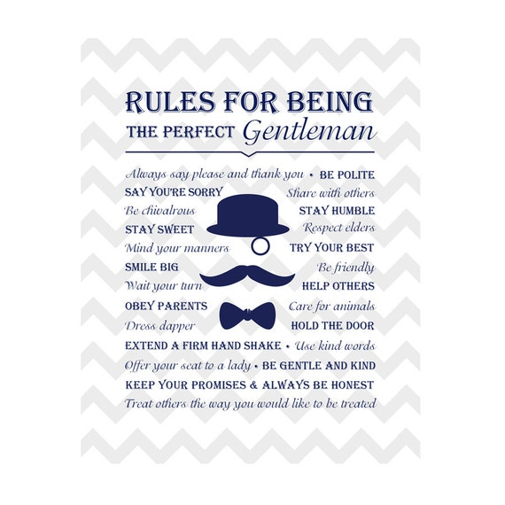 rules for being the perfect gentleman little gentleman baby shower