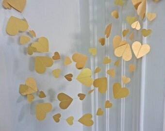 Valentines day, gold  heart garland  Wedding garland, Home decoration