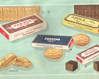 Vintage Nabisco Uneeda advertising brochure digital download art image cookies wafers