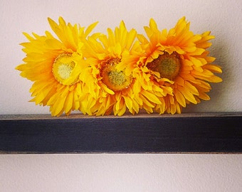 Sunflower Hair Barrette, Sunflower Hair Clip, Flower Hair Barrette, Flower Hair Clip, Summer Hair Barrette, Summer Hair Clip