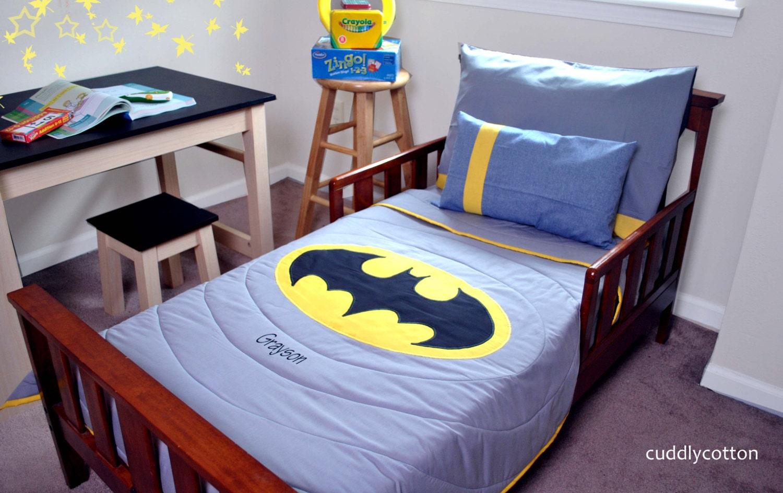 Reversible Super Hero Toddler Bedding By Cuddlycotton On Etsy