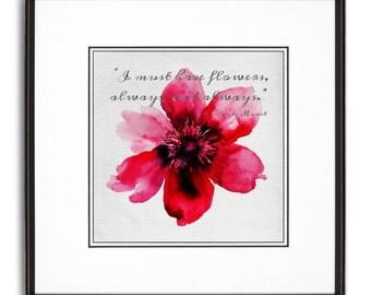 Flowers Monet Art Print