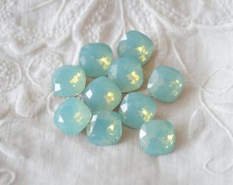 4 ~ 10MM 4470 Pacific Opal Foiled Swarovski Crystal Square Cushion Cut Stone