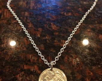 Singapore 50 cents coin necklace