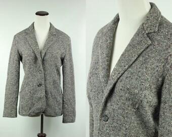 70's Nubby Grey Wool Blazer Jacket