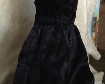 Elegant Homemade Black Doll Dress