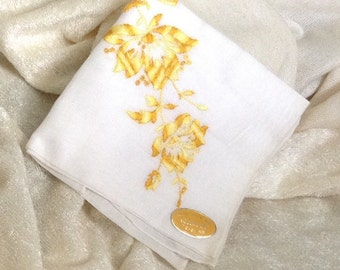 Vintage Swiss Cotton Handkerchief