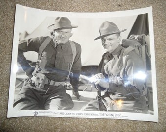 Original 1940 The Fighting 69th Promo 8x10 Photo Black and White Movie Poster James Cagney, WW2, War, Army