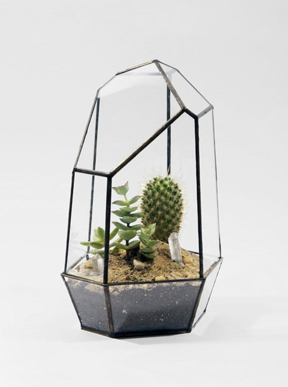 Unique stain glass terrariums. Catches sunlight and reflects an amazing spectrum Makes a beautiful gift or creative project for yourself