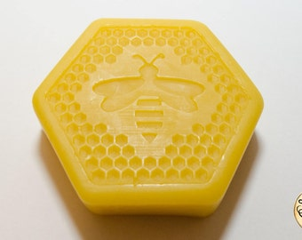 Pure Beeswax Block - 65g (2.2oz) Hexagonal Candle Polish woodworking bees wax