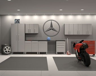 Mercedes Benz Emblem Garage Interior Wall Decal Sticker
