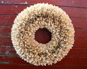 """Book Page Wreath 18"""""""