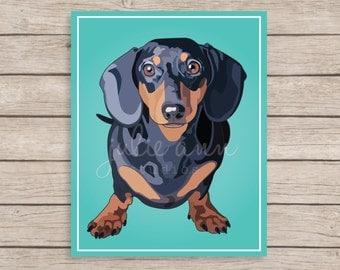 Dachshund Art Print, Doxie Art, Dachshund Decor, Doxie Wall Art, Dog Art, Dachshund, Wiener Dog, Dog Wall Art, Gift for Dog Lover, Dog Decor