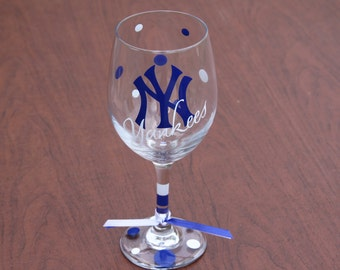 New York Yankees Glassware, Baseball, Go Yankees!