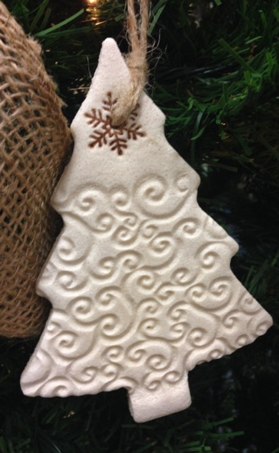 Rustic Salt Dough Christmas Tree Ornament - Simple Swirl ...