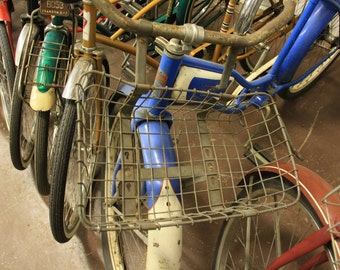 Vintage Bikes with Baskets