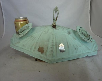 Vintage 1930s Ceiling Light Fixture Moderne/Modern Chrome