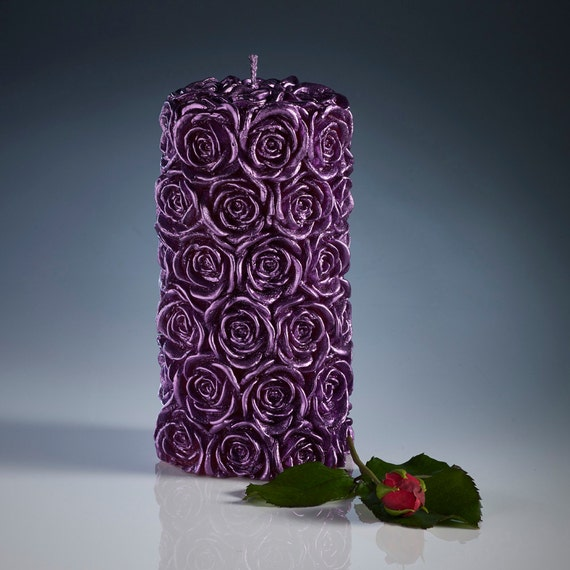 Decorative candles carved rose christmas