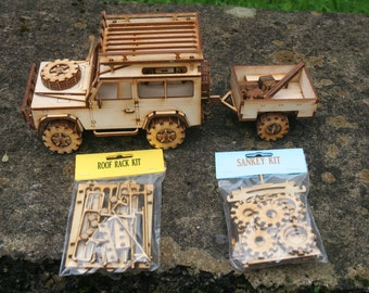 Wooden Model Land Rover 90