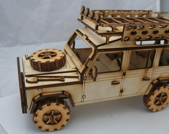 Wooden Model Land Rover 110
