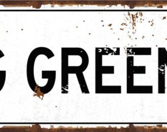 Big Green Way Street Sign, Graduation, University, Alumni, Mancave, Team Spirit, HB7702