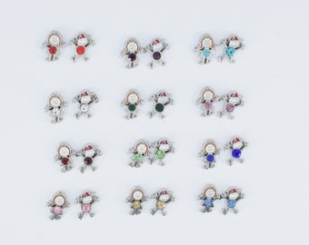 Girl birthstone charms, Boy birthstone charms for memory, floating, glass, Charm My Story and Origami Owl lockets.