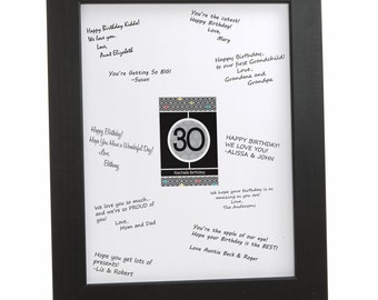 30th Birthday Party Signature Mat for a Birthday Party Guest Book