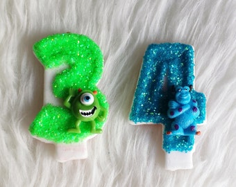 Monsters inc theme etsy for Monster themed fabric