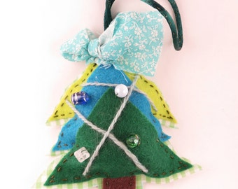 Christmas Tree Ornament - Handsewn ornament