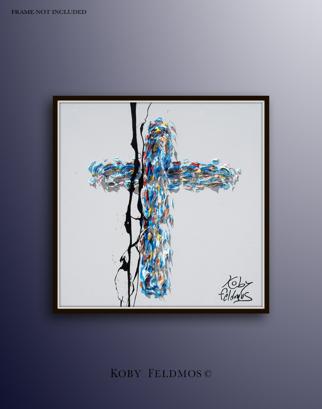 Cross 30 oil painting on canvas biblical art jesus for Cross paintings on canvas