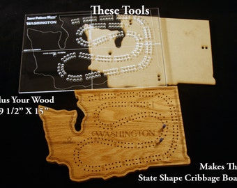 Acrylic cribbage board drilling template 1 4 by for Cribbage board drilling templates