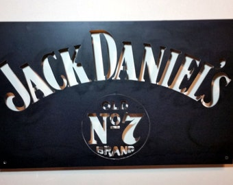 Modern Steel Jack Daniels Bar Sign