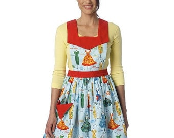 Butterick Sewing Pattern B6189 Misses' Gathered-Skirt Half or Full Aprons