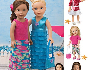 """Simplicity Sewing Pattern 1178 Modern Clothes for 18"""" Doll"""