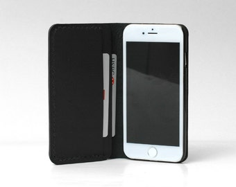iPhone 5S Case Leather, iPhone 5S Wallet Case, iPhone 5 Leather Case, iPhone SE Wallet Leather, iPhone 5 SE Wallet Leather, Black