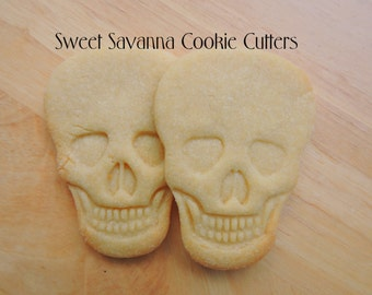 Skull Cookie Cutter with emboss plate