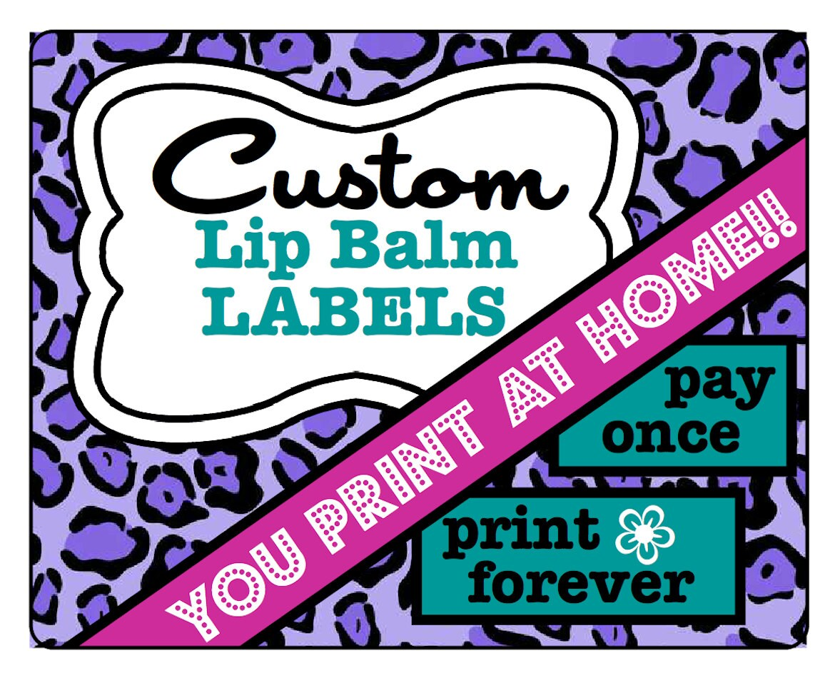 This is an image of Mesmerizing Printable Lip Balm Labels